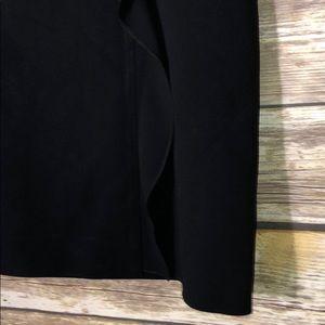 Valentino Skirts - VALENTINO Pencil Skirt Side Ruffle Black